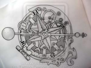 тату компас (10)