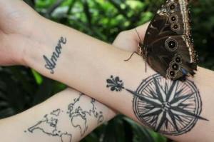 тату компас на руке (11)