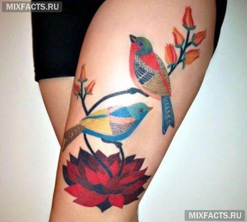 татуировки на бедре