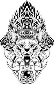 волк эскиз (24)