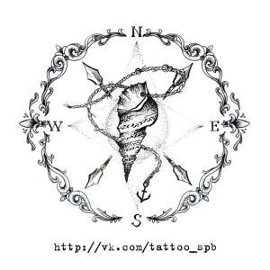 тату компас (6)