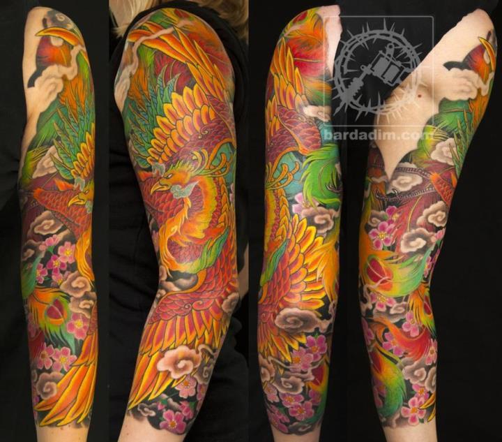 японская Татуировка феникс