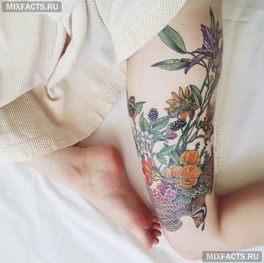 татуировки на ноге фото