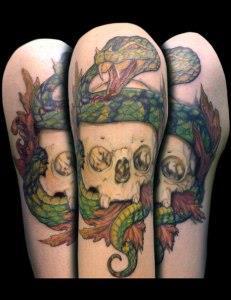змея на руке (3)