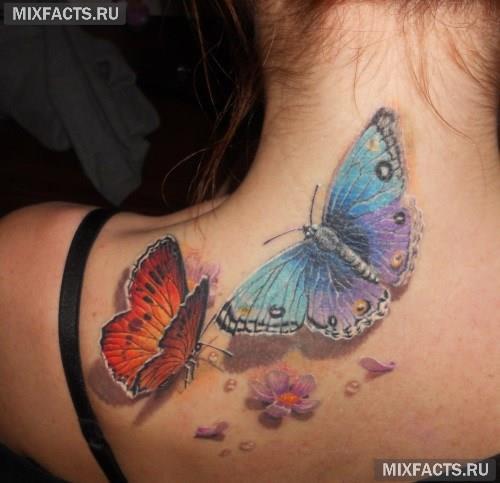 Цветные тату для девушек