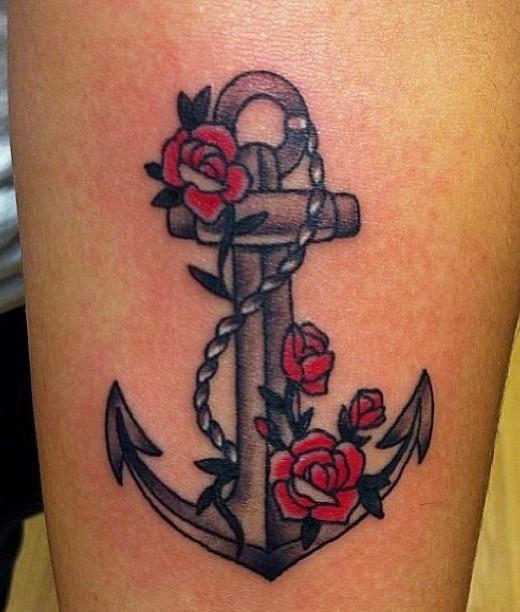 Татуировка якорь у парней
