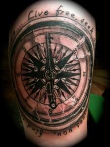 тату компас на руке (2)