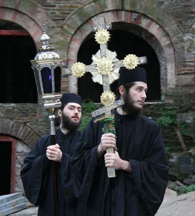 Крест императора Константина. Монастырь Ватопед, Афон.