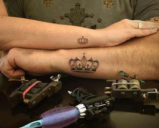 Татуировки на руках, парные