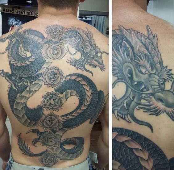 Дракон на спине