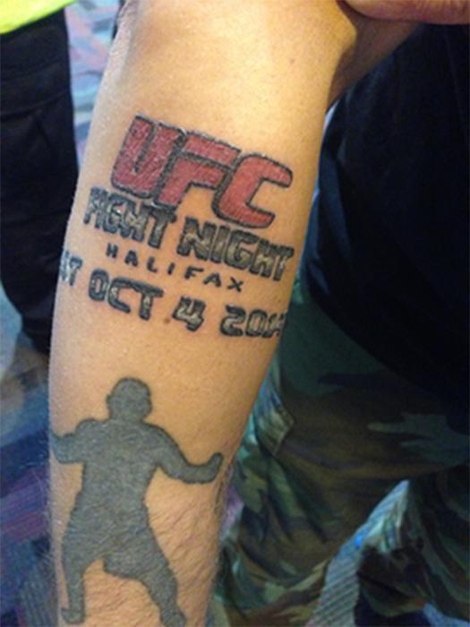 UFC татуировка