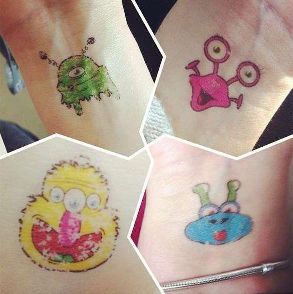 Примеры детских татуировок
