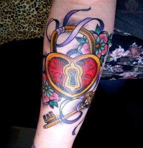 ключи и замки татуировки (9)