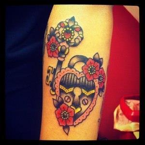 ключи и замки татуировки (4)
