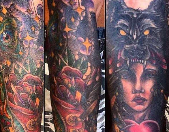 Цветная татуировка рукава
