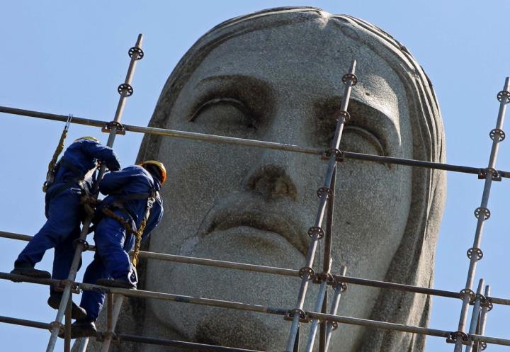 Реставрация Статуи Христа Искупителя