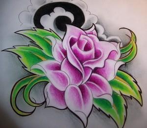 тату розы эскиз (8)
