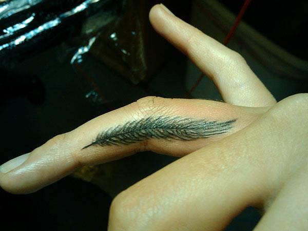 Перо на безымянном пальце