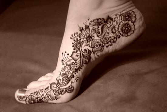 Временная татуировка хной