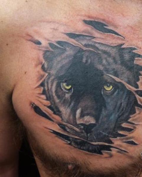 Татуировка пантера у парней