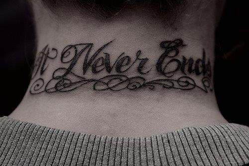 Надпись Never Ends