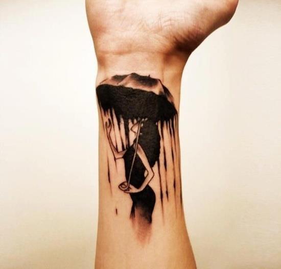 выбор татуировки с зонтиком