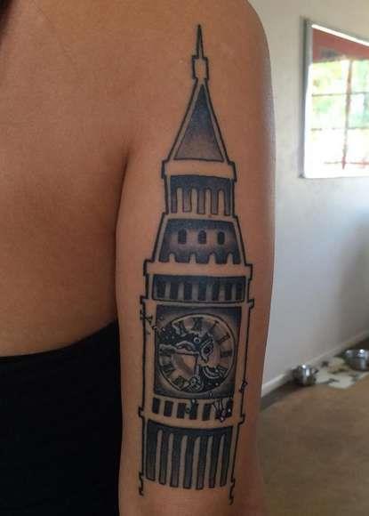 Татуировка Биг Бен в Лондоне