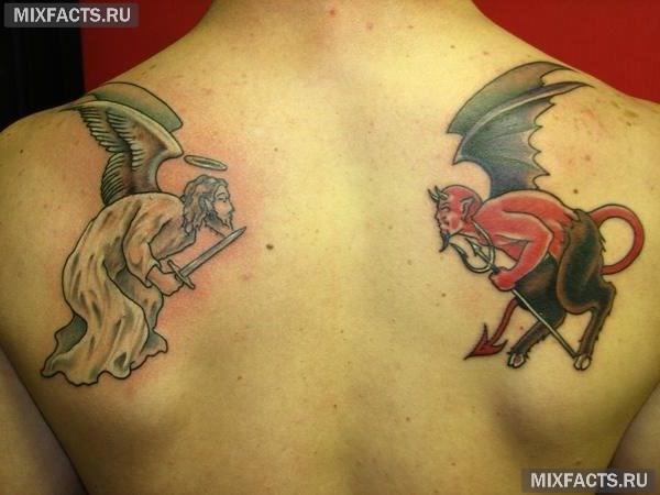 татуировка ангела интересные эскизы