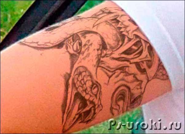 Татуировка, сделанная в фотошопе