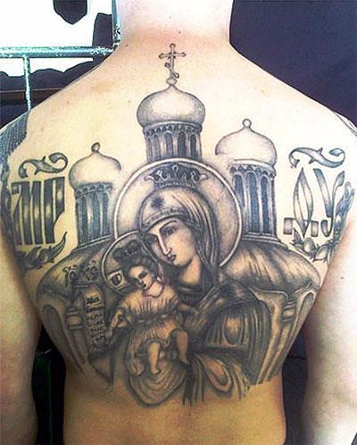 Татуировка «Божья Матерь»