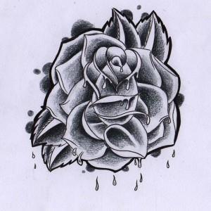 тату розы эскиз (7)