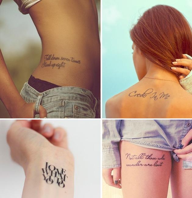 где сделать тату в виде надписи