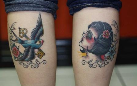 Татуировки на ноге в Санкт-Петербурге