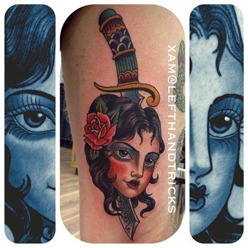 олдскул традишнл татуировки xam