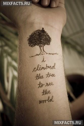 татуировка надпись на руке