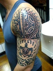 Полинезийское тату - луна и слонце