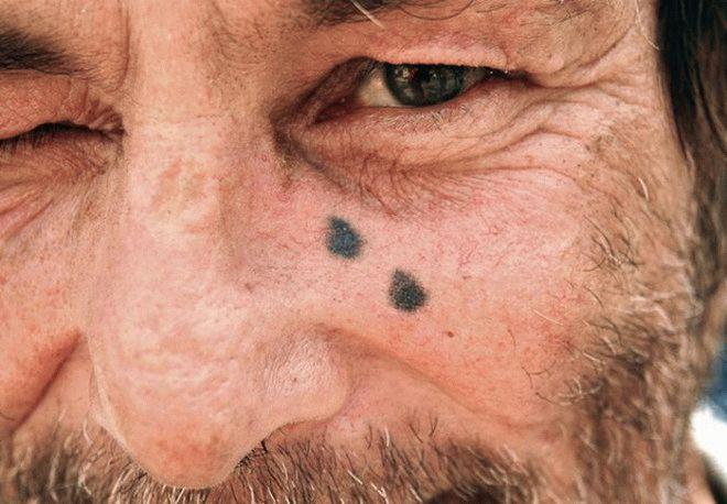 Татуировка слеза