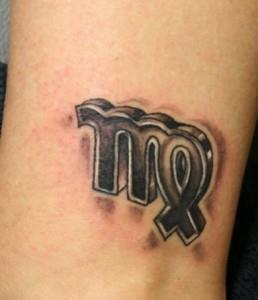 Татуировки знак зодиака Дева