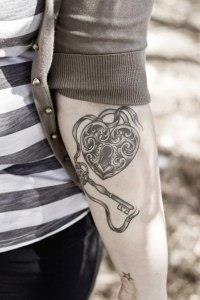 ключи и замки татуировки (5)