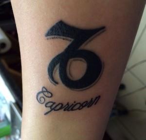 Татуировки знак зодиака Козерог