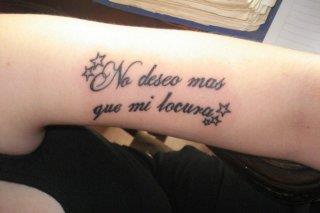Татуировка испанская надпись на предплечье