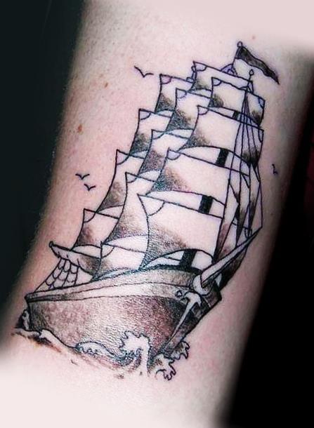 Парусник - татуировка военно-морского флота