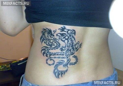женские татуировки драконов