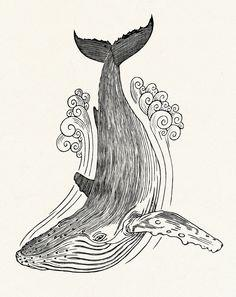 тату эскизы кита (1)