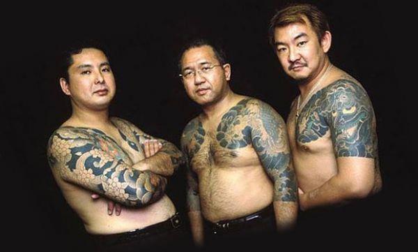 Мафия якудза в татуировках