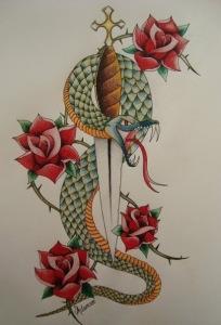 змея эскизы (14)