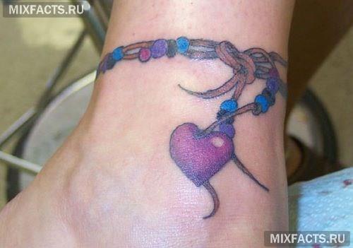 татуировки браслетом сердце