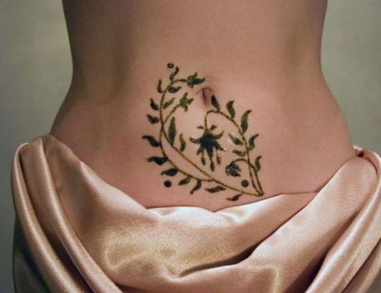 татуировку хной (биотату)