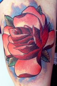 тату роза на руке (3)