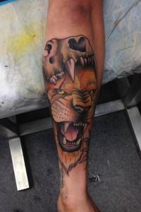 тату лев на руке (7)
